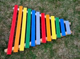 homemade rainbow xylophone and next comes l