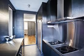 functional kitchen design black furniture interior design photo ideas small hi tech styled