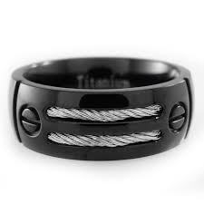 titanium wedding ring titanium wedding bands black camo and silver rings sale