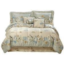 Coastal Bed Sets Coastal Comforter Sets King Pc Tropical Sea Shell