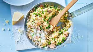rice cuisine easy chicken and pea risotto recipe food