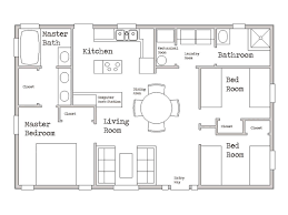 One Story Two Bedroom House Plans Superior Floor Plans For 800 Sq Ft Home Part 1 Cottage Style