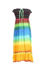 rainbow cocktail multi colored rainbow design 3 in 1 summer beach tube dress cover