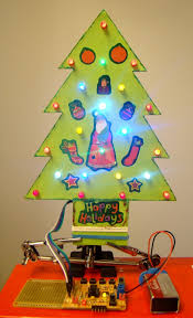 a mini led tree embedded lab