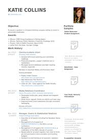 Resume For Teenager With No Job Experience by Communications Intern Resume Samples Visualcv Resume Samples