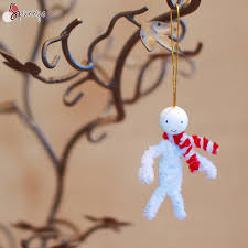snowman and style scarf a pipe cleaner