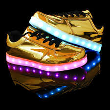 gold light up sneakers shoes just for you at showgirl ltd