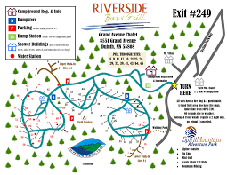 Wisconsin Campgrounds Map by Spirit Mountain