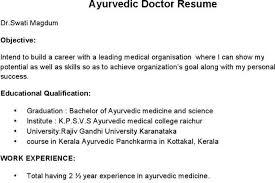 sample resume ayurveda doctor resume ixiplay free resume samples