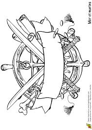 dessin à colorier d u0027une étiquette pirate coloriages de pirates