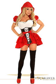Quality Halloween Costume Red Riding Hood Corset Halloween Costume
