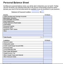 Monthly Balance Sheet Template Exle Balance Sheet Template