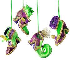 mardi gras shoe ornament set of 4 mg15 113 mardigrasoutlet