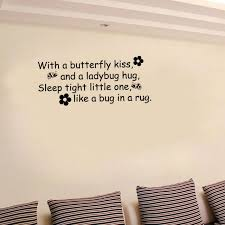 baise en chambre diy wall sticker papillons baiser coccinelle câ citer vinyle