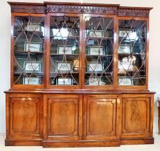 Break Front Bookcase A George Iii Mahogany Breakfront Bookcase Stock Blanchard