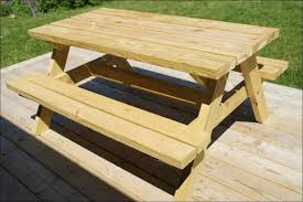 Free Plans For Round Wood Picnic Table by Exteriors 2x4 Picnic Table Kids Hexagon Picnic Table Recycled