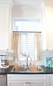Gray Cafe Curtains Kitchen Cafe Curtains Transitional Kitchen Kerrisdale Design
