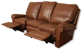 Camel Leather Sofa by Leather Sofa With Wood Trim Benz Reclining P 503 Ben Sf2m Angled