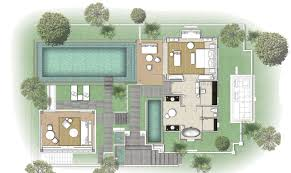 One Bedroom Open Floor Plans One Bedroom River Front Pool Villa In Bali Mandapa A Ritz