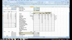 Earthwork Estimating Spreadsheet Cost Estimating Sheet With Excel For The General Contractor