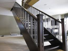stair indoor banister metal handrails modern stair railings