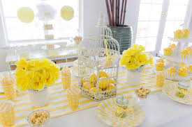 white party table decorations bn black book of parties bright yellow and white 12th birthday