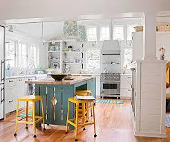 grey white yellow kitchen 15 gorgeous white kitchens with coloured islands the happy housie