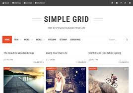 simple grid blogger template my websites templates free