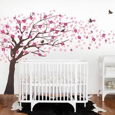 Nursery Wall Tree Decals Cherry Blossom Wall Decal With Childrens Wall Stickers With