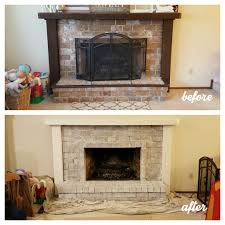 white washed fireplace u2039 peep toes and pacifiers