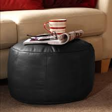 luxury real leather footstool icon designer bean bag foot stool
