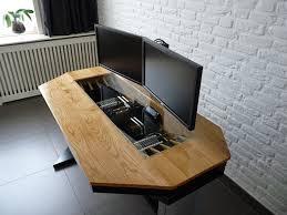 man builds the ultimate pc case desk hybrid geek com