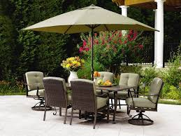 High Patio Dining Set Patio Table And Chairs With Umbrella In High Style The