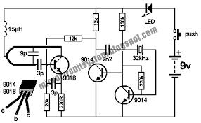 wireless doorbell transmitter circuit circuit diagram