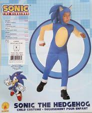 Sonic Hedgehog Halloween Costume Sonic Hedgehog Games Movies Costumes Ebay