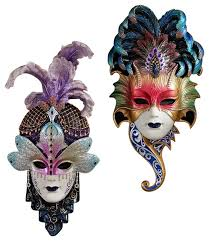 mardi gras wall masks venetian masquerades masks wall sculptures by xoticbrands home