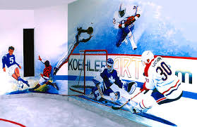 sports murals for bedrooms hockey rink mural team sports mural painting by hanne lore