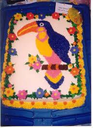 tropical bird birthday cake cakecentral com