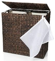hidden laundry hamper amazon com designer wicker laundry hamper with divided interior