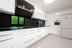 Modern Kitchen White Cabinets Kitchen White Modern Kitchen Cabinetry With Black Walls Cabinets