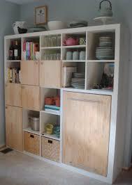 ikea hacks storage ikea hackers expedit kitchen storage and counter home sweet