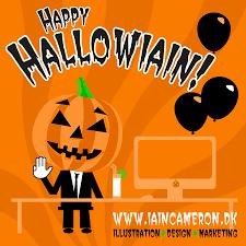 happy halloween text art halloween illustration happy hallowiain iain cameron