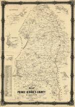 prince georges county map prince george s county 1861c wall map maryland historical atlas