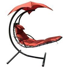 Hammock Chair C Stand Hanging Chaise Lounger Canopy Chair Arc Stand Air Porch Swing