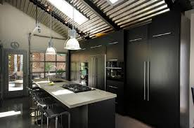 Bar Stool Kitchen Island Embracing Darkness Ways To Add Black And Gray To Your Kitchen