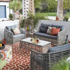 Deck And Patio Combination Pictures by Belham Living Kambree All Weather Wicker Coffee Table Hayneedle