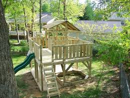 beautiful backyard play fort architecture nice