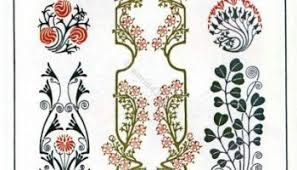 nouveau ornaments tendrils flowers thistle lost and found