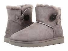 s ugg bailey boots ugg australia mini bailey button ii grey womens boots 9 ebay