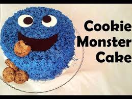 how to decorate easy cookie monster cake youtube
